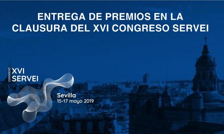 Entrega de premios en la clausura del XVI Congreso SERVEI